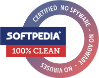 100% CLEAN award granted by Softpedia